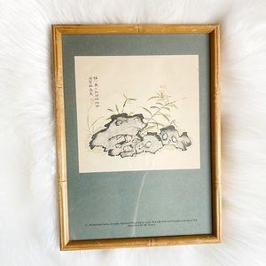 Bamboo Framed Wall Decor / Art